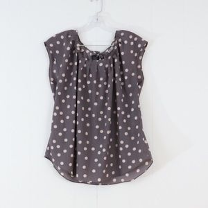 LC Lauren Conrad Tops - LC Lauren Conrad polka dot sheer blouse